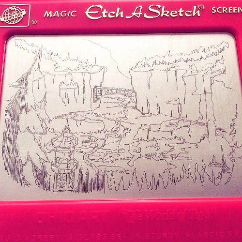 Gravity Falls! Etch A Sketch!<<<PURE EPIC AWESOMENESS. NOT ONLY DO PEOPLE RMEMBER ETCH A SKETCH, BUT THEY MADE THIS!!!