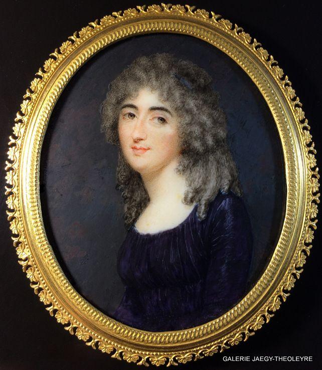 HENARD Charles (1757-1812), PORTRAIT MINIATURE CIRCA 1790