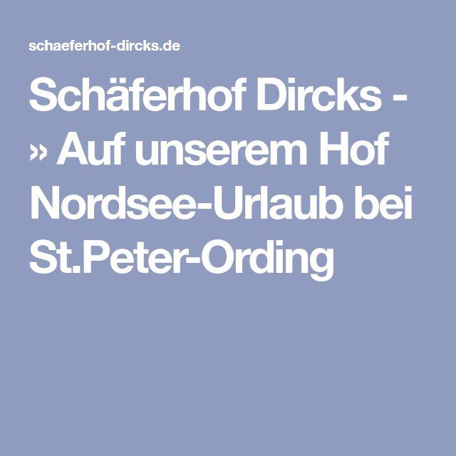 Schäferhof Dircks - » Auf unserem Hof Nordsee-Urlaub bei St.Peter-Ording Kein ponyreiten über 7