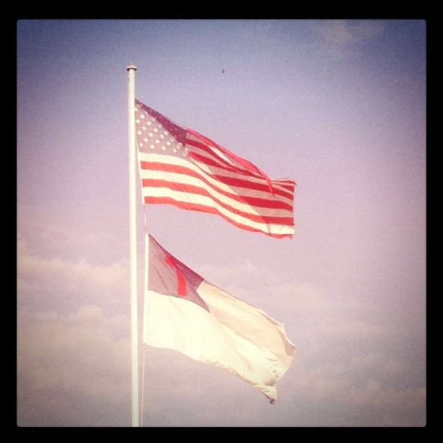 American And Christian Flags At Evangel Christian Academy Christian Flag Marine Love American Heroes