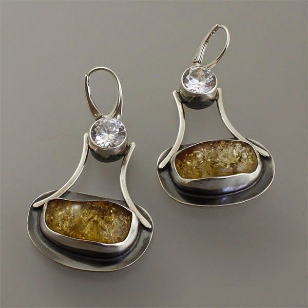 Amber earrings.