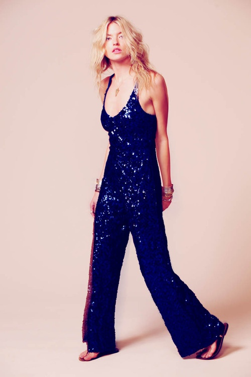 Martha Hunt's Sequin Jumpsuit for Free People