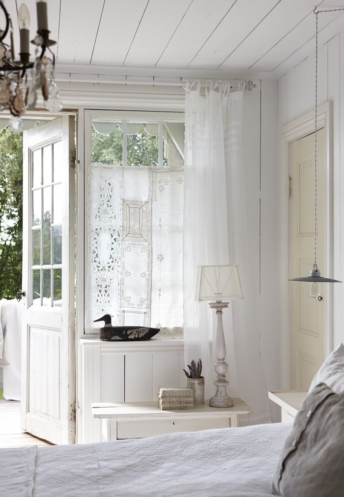 Bedroom Curtains Whitewashed Cottage chippy shabby chic french country rustic swedish idea
