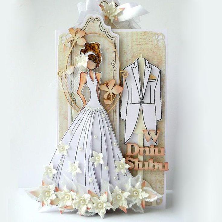 Открытка на свадьбу своими руками платье, открытки днем