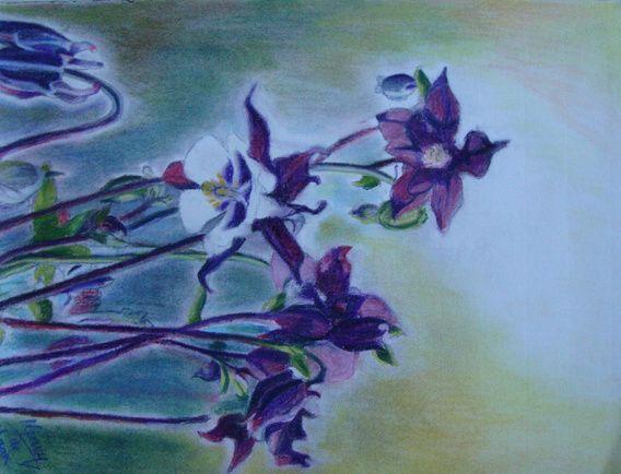 Koop 'Pastel Bloemen/Pastel Flowers' van henry de haan voor aan de muur.