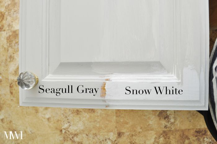Milk Paint Cabinet Seagull Grey