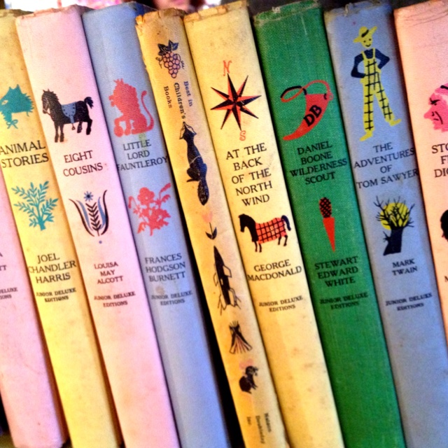. . . .I had these vintage books. Maybe my mom still has them in a box somewhere.