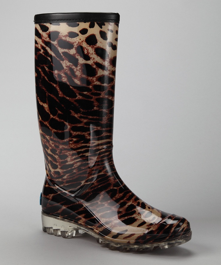 21 best Cheetah Print Rain Boots images on Pinterest