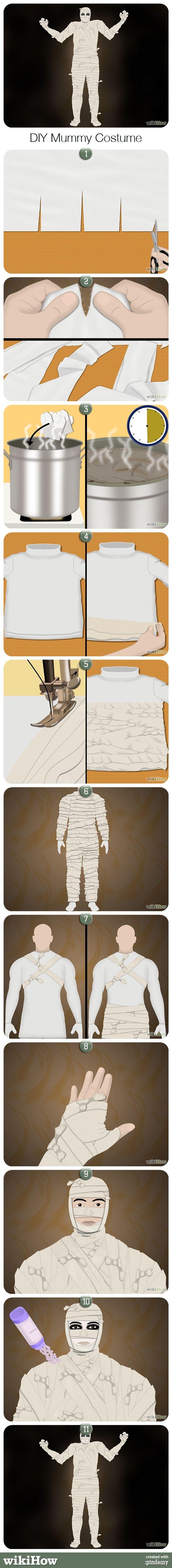 Mummy Halloween Costume!