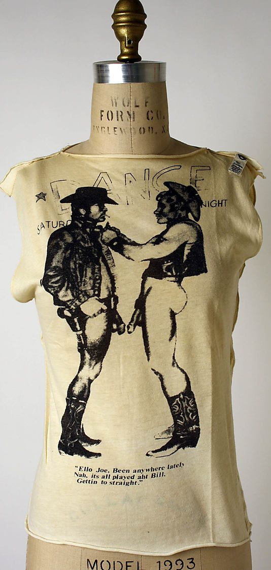 Vivienne Westwood (British, born 1941). Cowboys, 1974. Desinger: Malcolm McLaren (British, 1946–2010). British. The Metropolitan Museum of Art, New York. Purchase, Richard Martin Bequest and Friends of The Costume Institute Gifts, 2006 (2006.253.8) #punkfashion