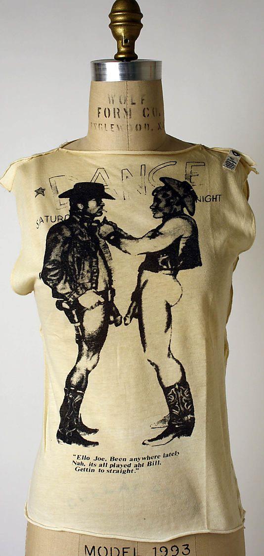 Vivienne Westwood (British, born 1941). Cowboys, 1974. Desinger: Malcolm McLaren (British, 1946–2010). British. The Metropolitan Museum of Art, New York. Purchase, Richard Martin Bequest and Friends of The Costume Institute Gifts, 2006 (2006.253.8) #punkfashion