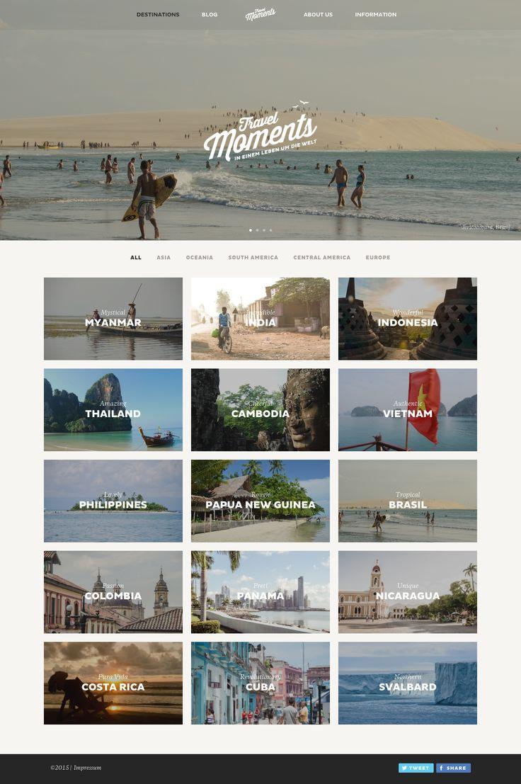 Travelmoments Foto Blog Webdesign