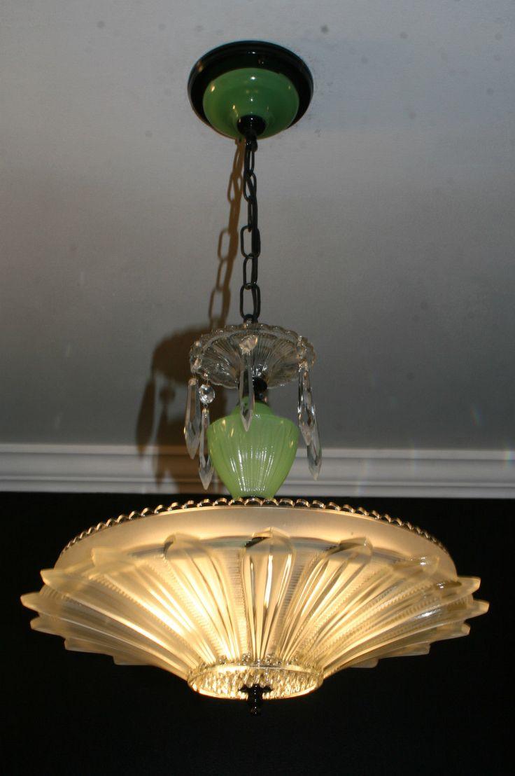 Dale tiffany floor lamps foter - Antique Jadiete Green Sunflower Art Deco Light Fixture Ceiling Chandelier