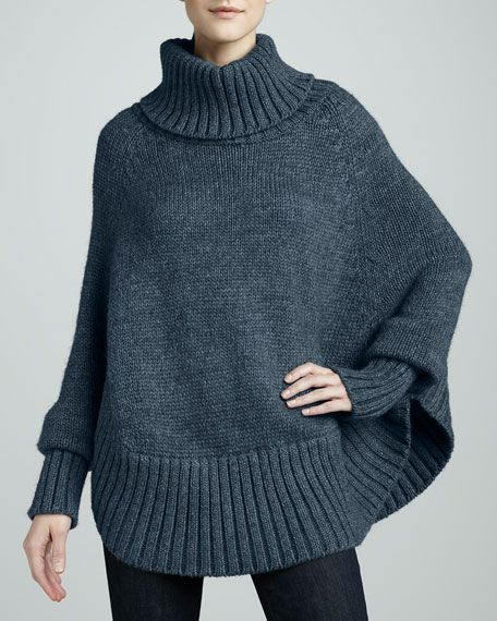 Portolano - Poncho with Sleeves
