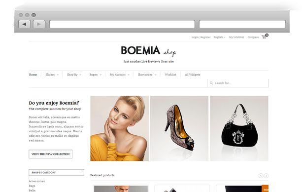 Boemia is a brandable theme designed with a minimal and responsive design. It is a shop theme which employes Woo Commerce plugin.