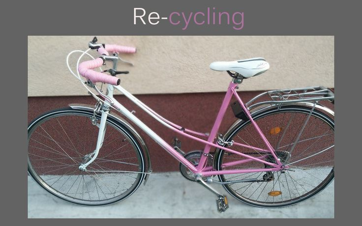 New bike :) We change all of the deateails on the bike. It gets new design pink and white colour. I love it ;)