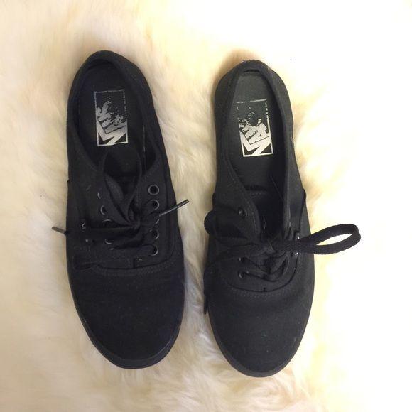 All black Vans All black, lightly worn Vans. Vans Shoes Lace Up Boots