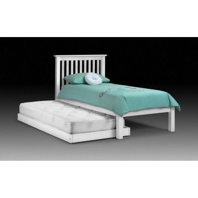 The classic Barcelona bed in stone white laquered finish with an additional pull out guest bed..