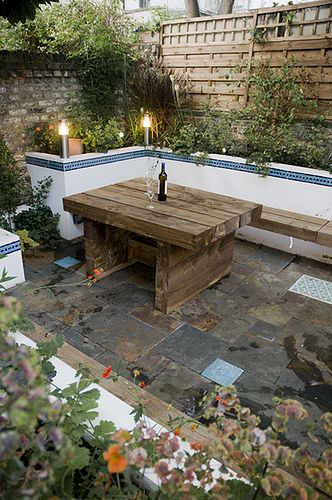 Moroccan Courtyard Garden In East London   Earth Designs Landscape Gardener  East London