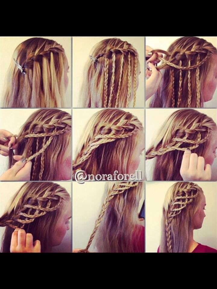 106 best hairstyles tutorials images on pinterest hairstyle fancy waterfall braid hairstyle ccuart Images