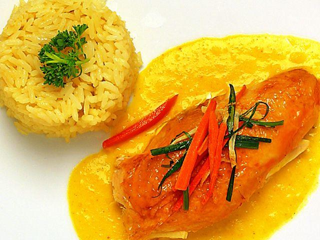 Kycklingfilé med currysås (kock recept.nu)