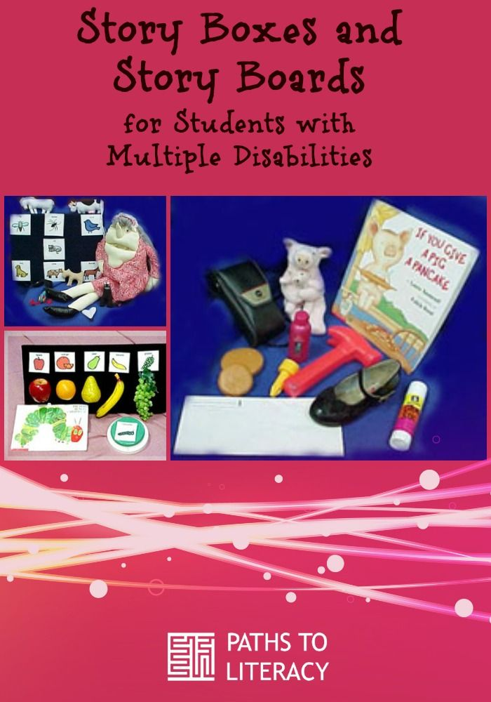 Create your own story boxes and story boards for children with multiple disabilities