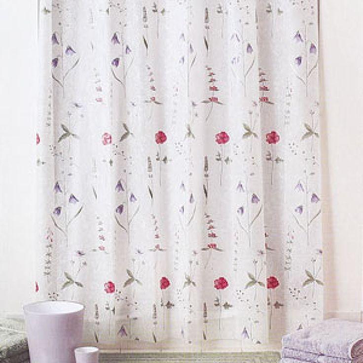 Poppies Vinyl Shower Curtain Vinyl Shower Curtains And