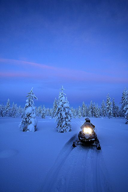 Blue moment in Iso-Syöte, Finnish Lapland by Visit Finland, via Flickr. Blue moment is something you should see and feel!! ** I sure would love to!