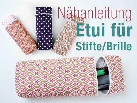 Nähanleitung Brillenetui Federmappe Stifterolle nähen 2 - Schnittmuster und Nähanleitungen bei makerist