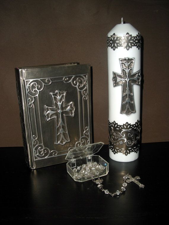 Hey, I found this really awesome Etsy listing at https://www.etsy.com/listing/129668139/handmade-first-communion-cross-candle