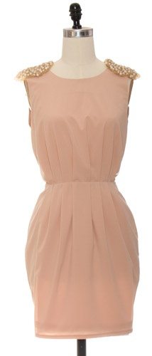 Blush Dress with pearl details