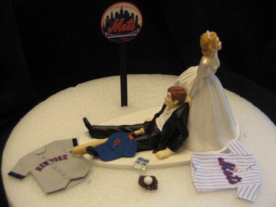 mets wedding cake topper