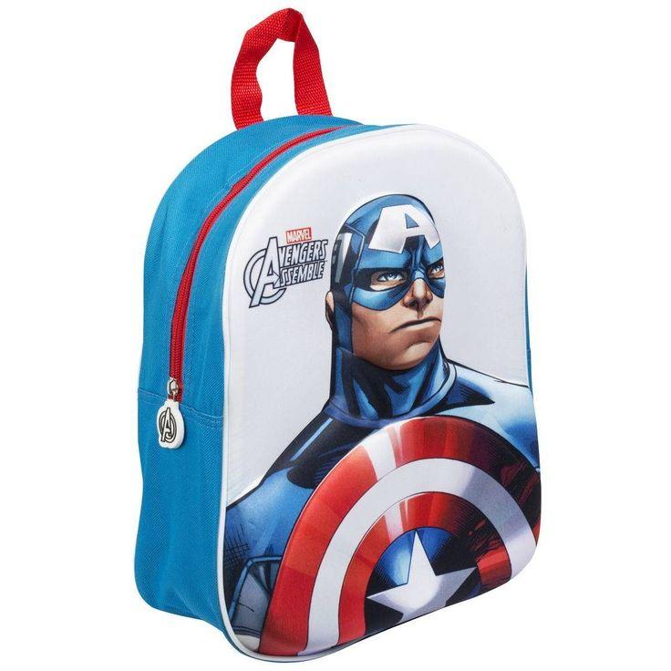 Avengers Assemble 3D Rugzak - Captain America #avengers #captainamerica #kinderrugzak #kinderrugtas #3Drugzak