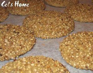 Cookies au sésame sans oeufs sans lait