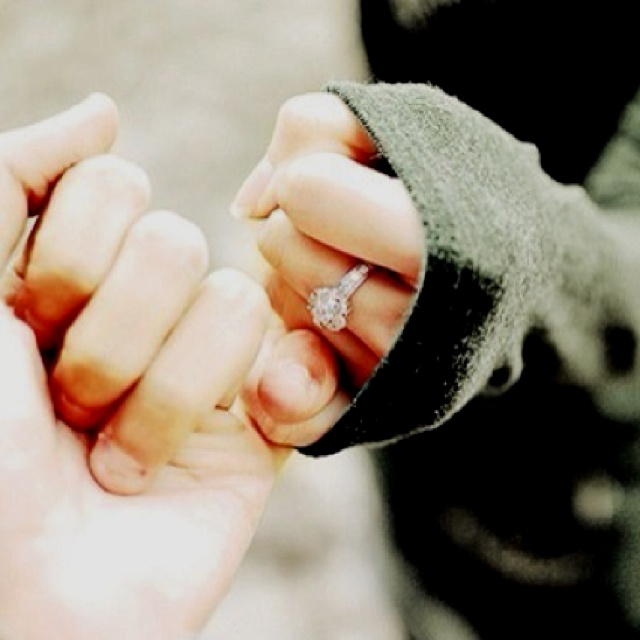 Promise- We need a picture like this to where you can see both his and her rings! <3