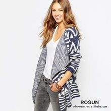 Denim Patterned Cardigan Folded Lapels Sweater For Ladies  Best Seller follow this link http://shopingayo.space