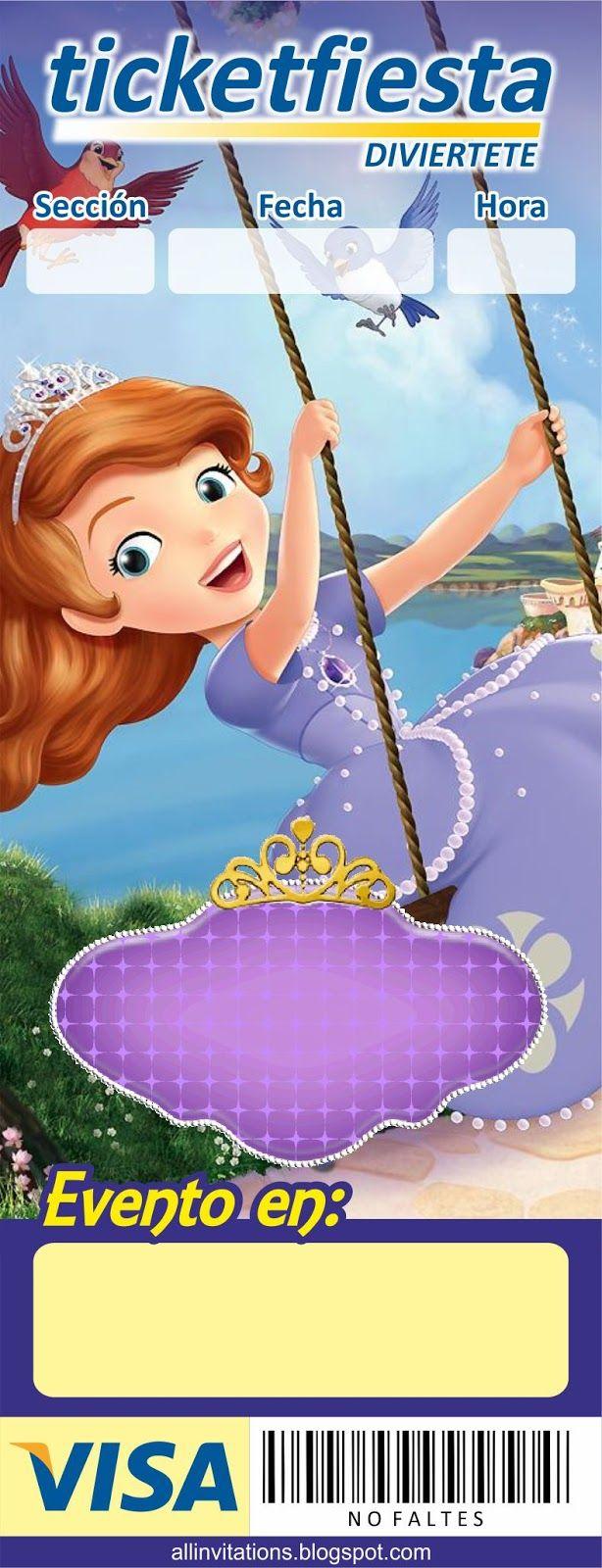 Plantilla Invitación Princesa Sofia