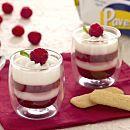 Bicchierini di panna cotta vaniglia lamponi e Pavesini
