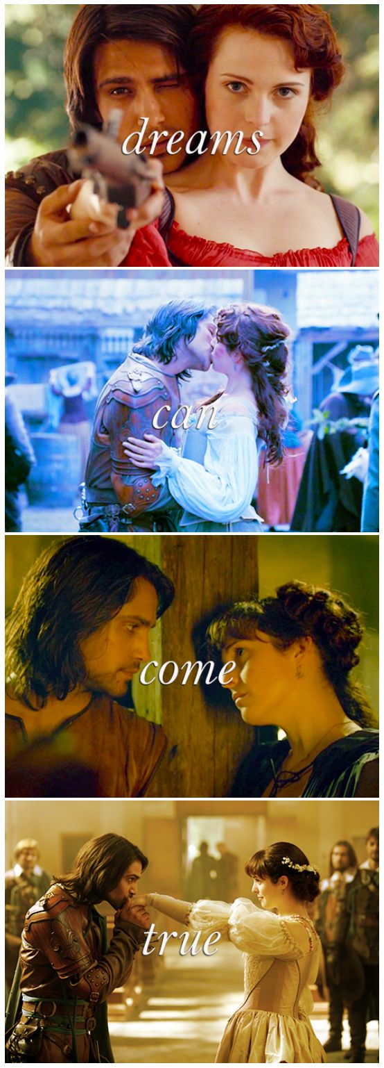 The Musketeers - Constance/D'Artagnan; 'Dreams can come true'