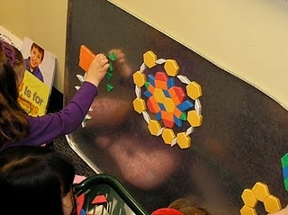 use an oil drip pan for magnetic play space