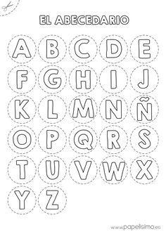 ABECEDARIO RECORTAR http://papelisimo.es/2015/02/abecedario-para-colorear-y-recortar/