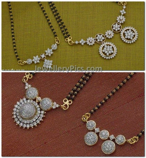mangalsutra studded with diamonds