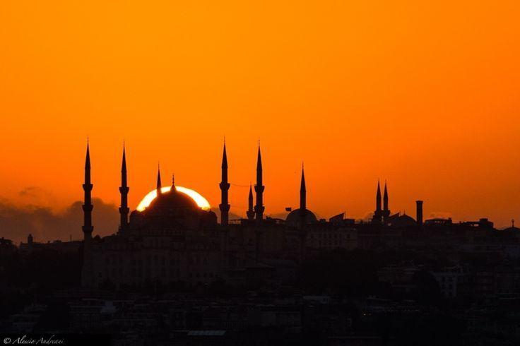 "Double Dome (Blue Mosque) - The sun set behind the Blue Mosque, Istanbul. Please ""like"" my new FB page to keep in touch: <a href=""http://www.facebook.com/AlessioAndreaniPhotography"">FACEBOOK</a> <a href=""http://www.alessioandreani.com"">WEBSITE</a>"