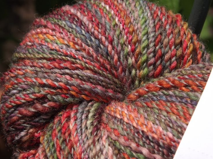 Kiina's Hand Spun yarn from Hand Dyed Polwarth  (Won First Place: Fall Fiber Festival 2016)