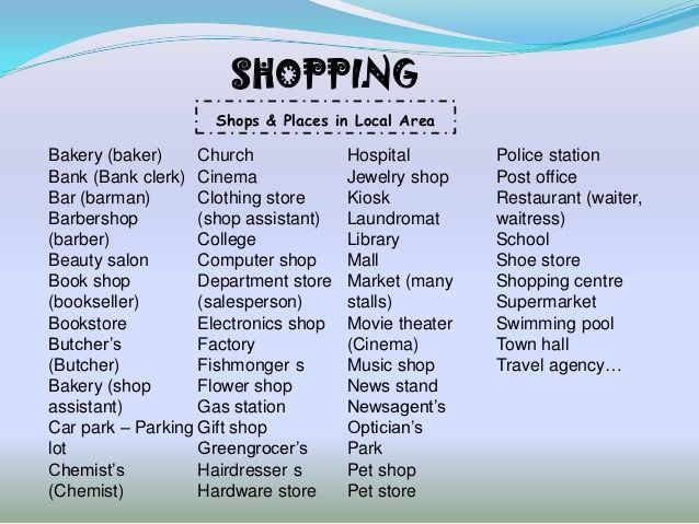 grade 4 shopping