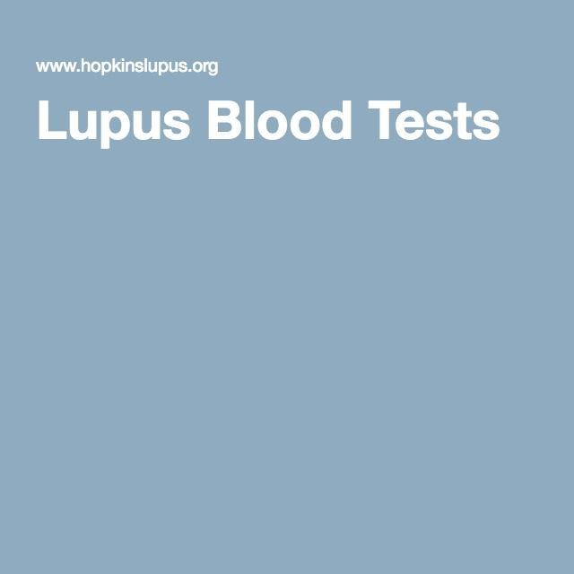 Lupus Blood Tests