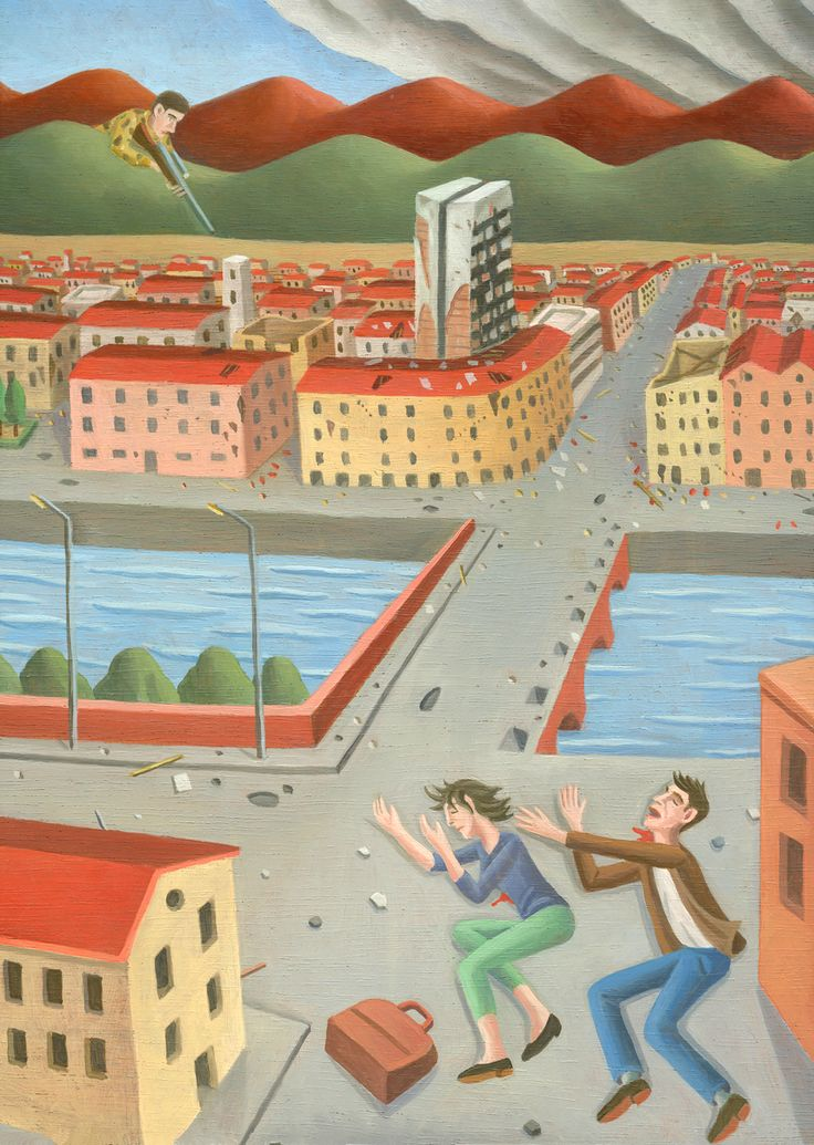 Tav. XCVII - Sarajevo 1993 Il 19 maggio 1993 un cecchino uccideva due ragazzi sul ponte di Vrbanje, a Sarajevo. Bosko Brckic,serbo, e Admira...
