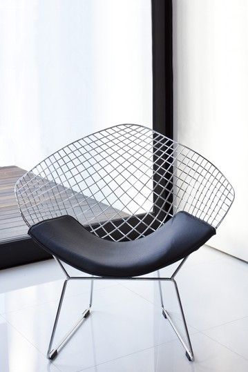Galaxy Wire Lounge Chair In Silver