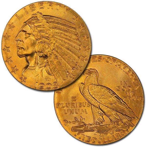 5 Dollar Indian Head Gold Coin Gold Coin Price Coins Gold Coins