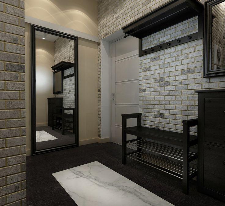 дизайн прихожей, интерьер прихожей, лофт, прихожая в стиле лофт, квартира в стиле лофт